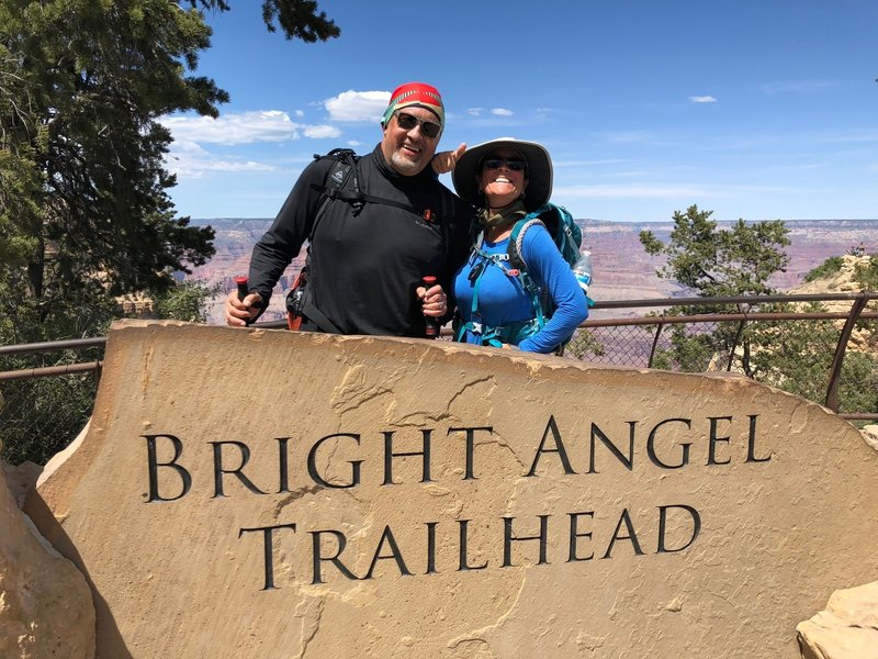 Bright Angel Trailhead, Grand Canyon up to South Rim trail, Grand Canyon