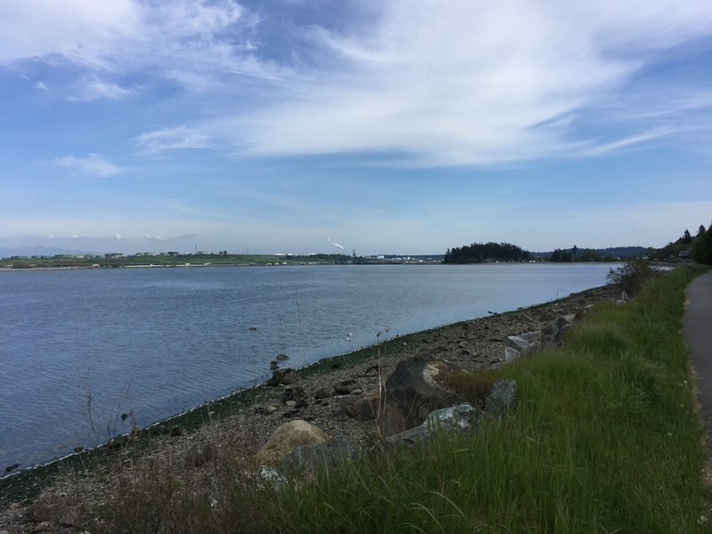 Looking south towards the Fidalgo Bay Aquatic Reserve.