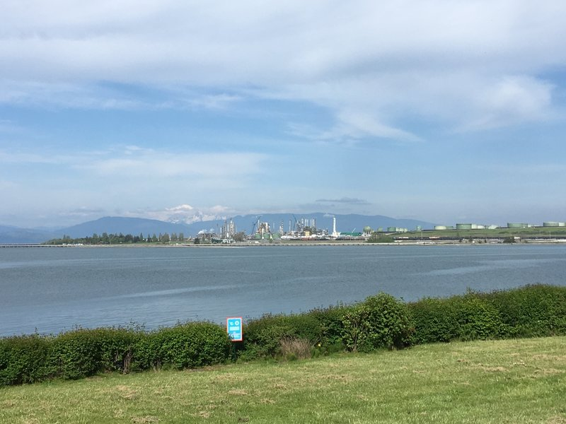 Looking across the water to the Shell refinery that sits on March's Point.
