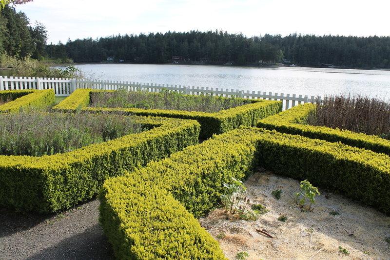 Traditional English garden.