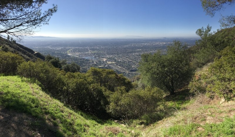 View of LA basin from lower campground