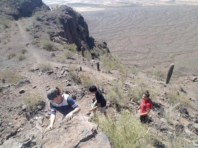 Climb to peak on Sunset Vista.