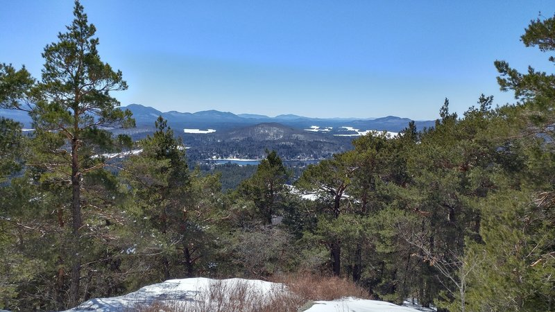 The view from one side of the summit.