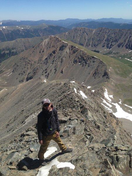 Looking down Kelso Ridge.