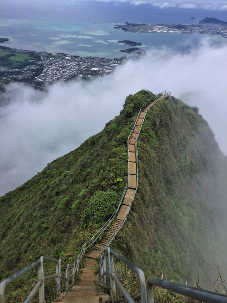 A foggy day on the Haiku Stairs