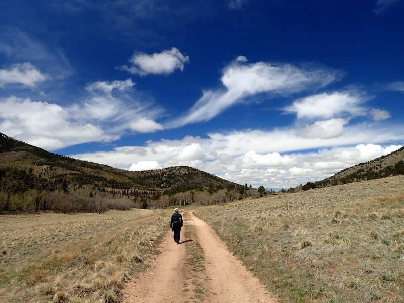 Returning from the upper trailhead