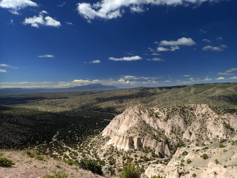 The view toward Albuquerque from the overlook