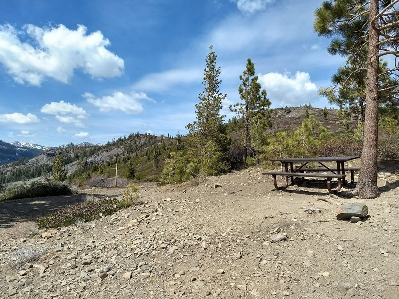 Picnic table at the top, with a panoramic view!