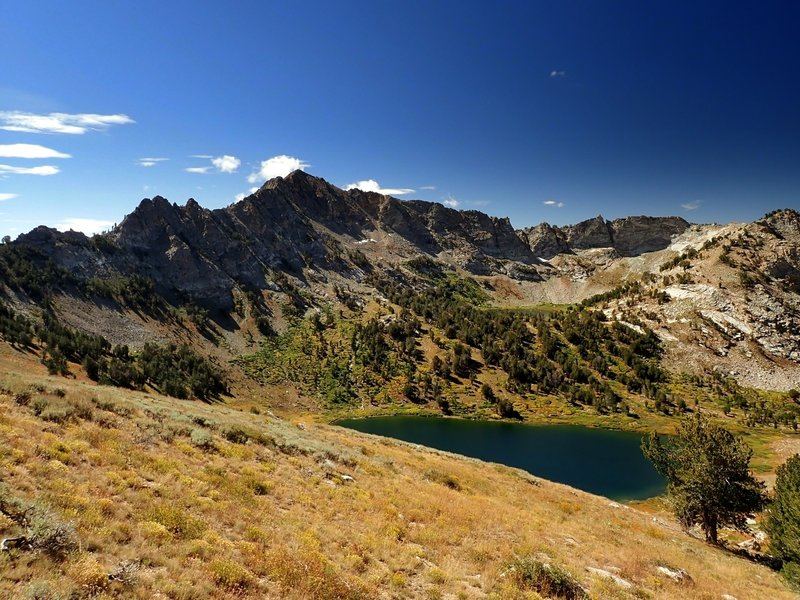Favre Lake below Lake Peak