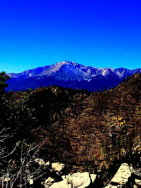 Pikes Peak as seen from the summit.
