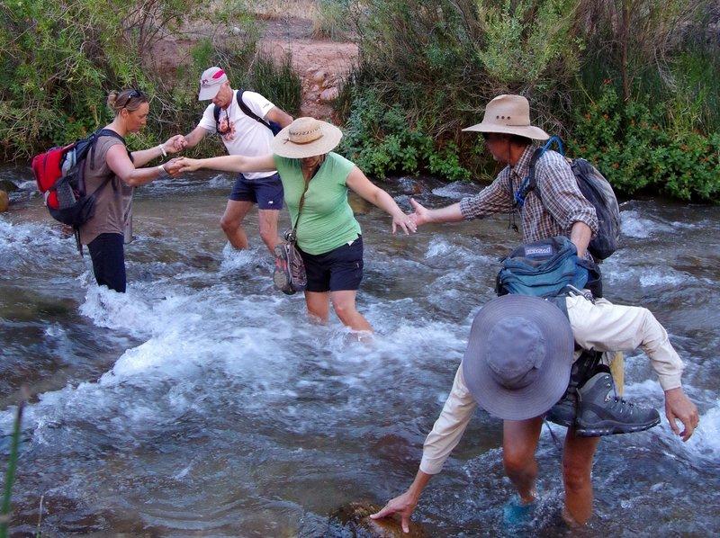 Crossing lower Tapeats Creek