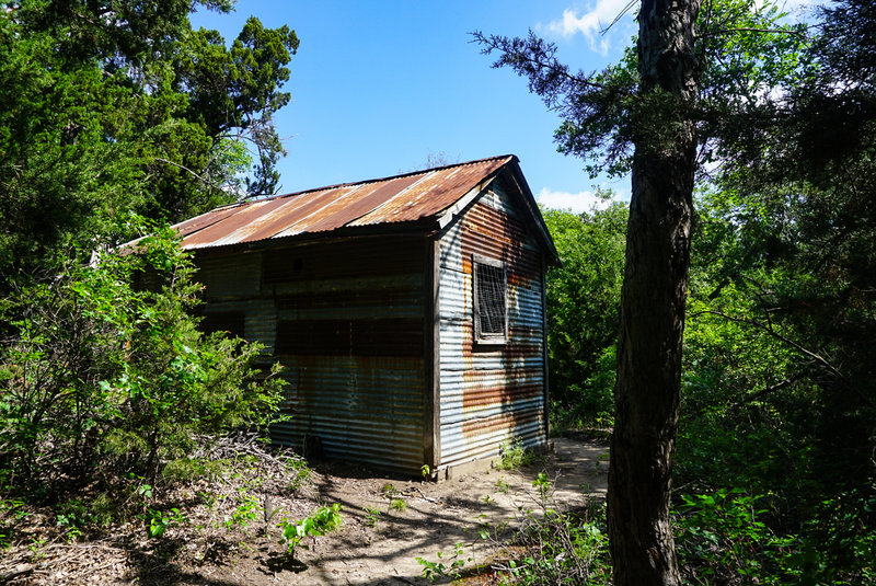 Check out the old cabin that sits directly in the middle of the trail.