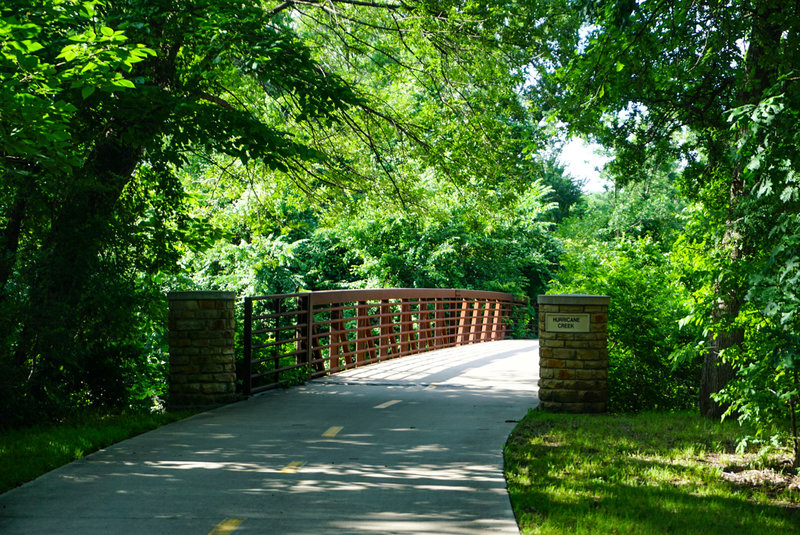 One of several bridges that pass over creeks and rivers on this trail.