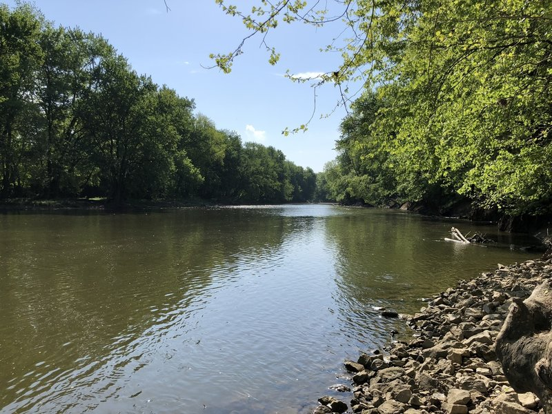 Great view of the river. You can kayak or canoe here as well.