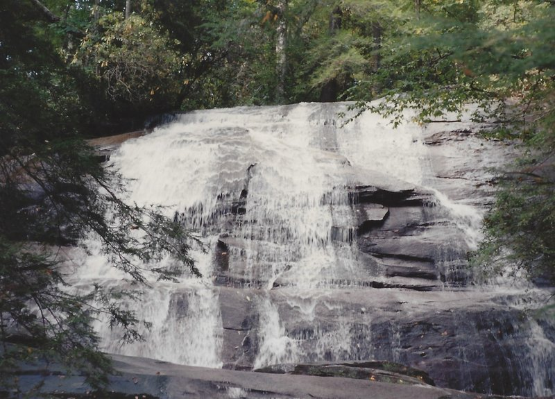 Views of falls from the base