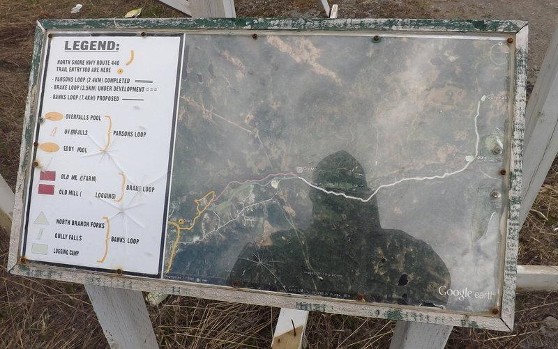 Trail map for Parsons Loop and Brake Loop