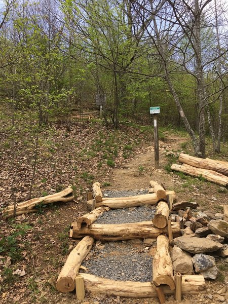 Improvements to the eroded trails