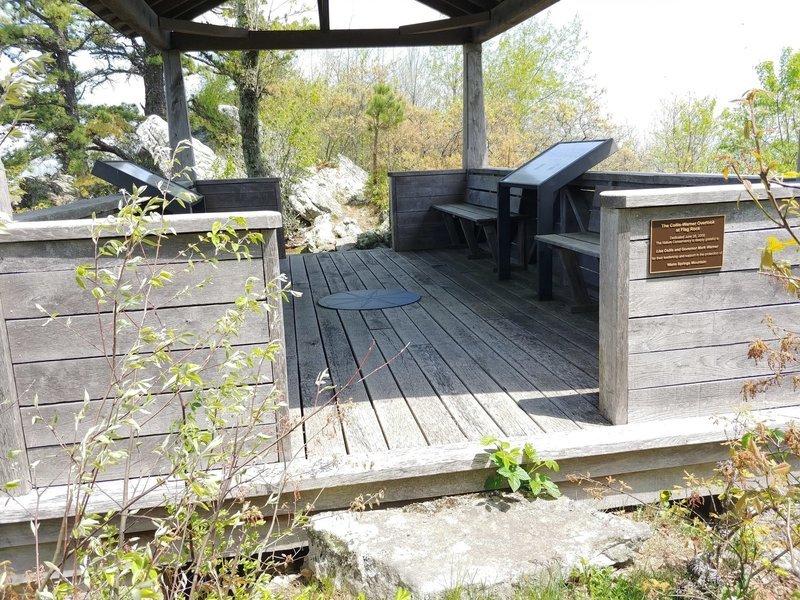 Wood structure at the overlook