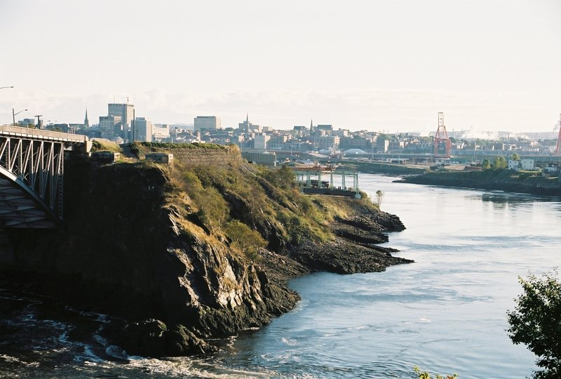 View of Reversing Falls and Bay of Fundy