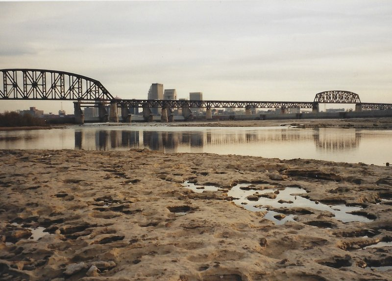 View of the fossil beds and Louisville, KY