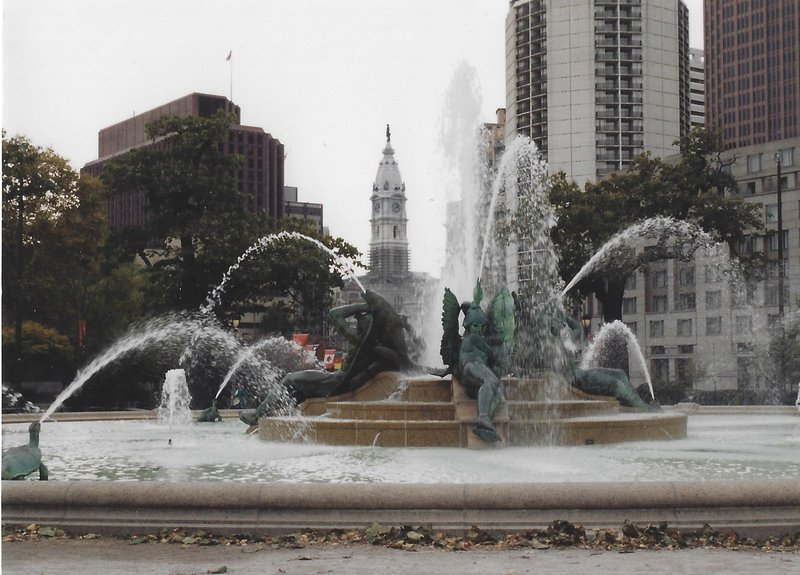 View of City Hall and Franklin Square