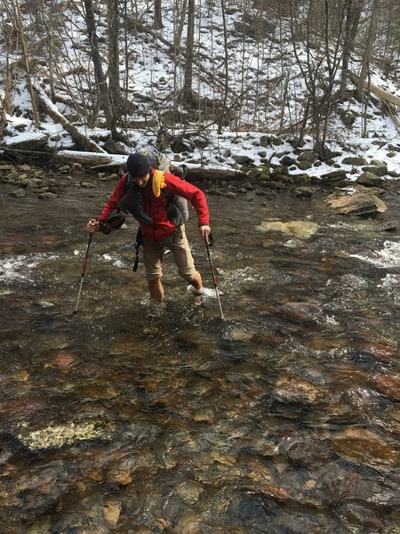 Winter water crossings froze our toes... but was so fun.