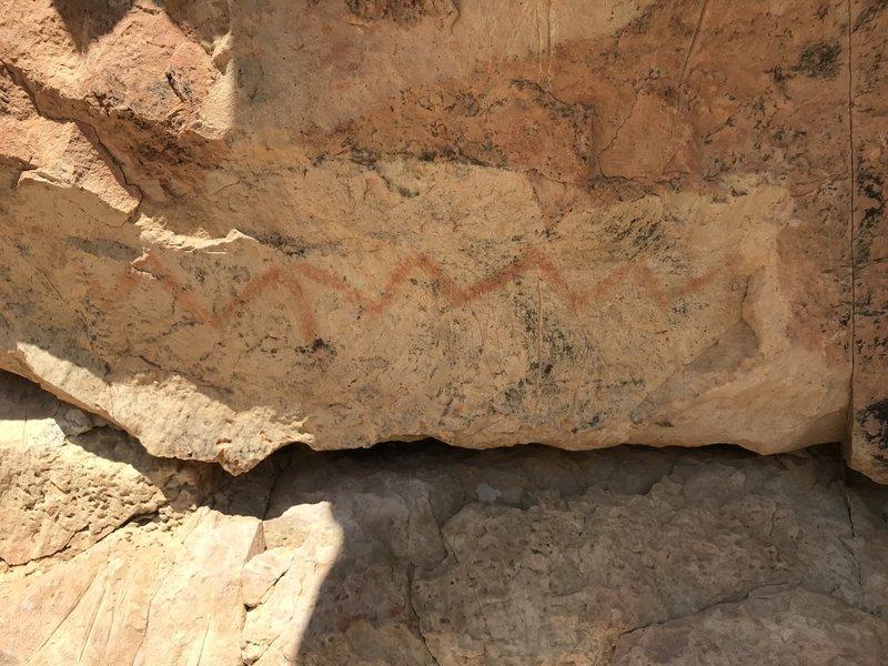 Chimneys pictograph: snake or river?