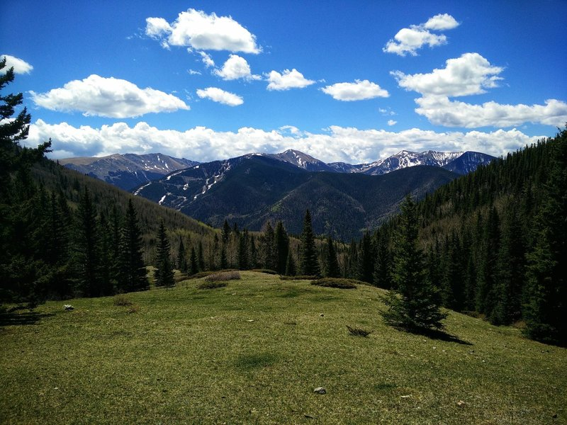 The view from the meadow looking towards Wheeler Peak, Kachina Peak, and others nearby