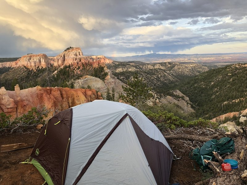 Views at the Swamp Canyon campsite are A+
