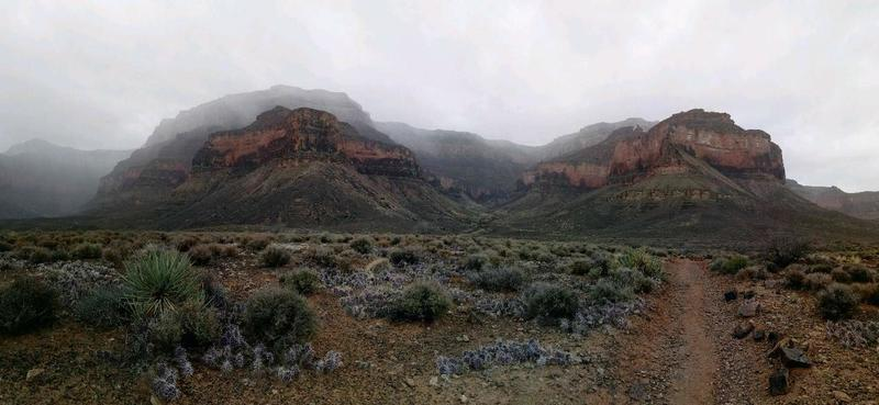 West view of Plateau Point.