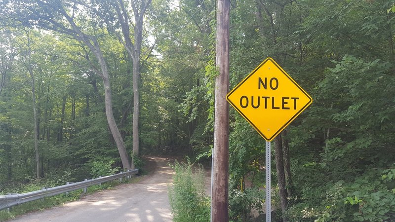 Aikens Farm Road Exit (sign is bogus as this is our outlet)