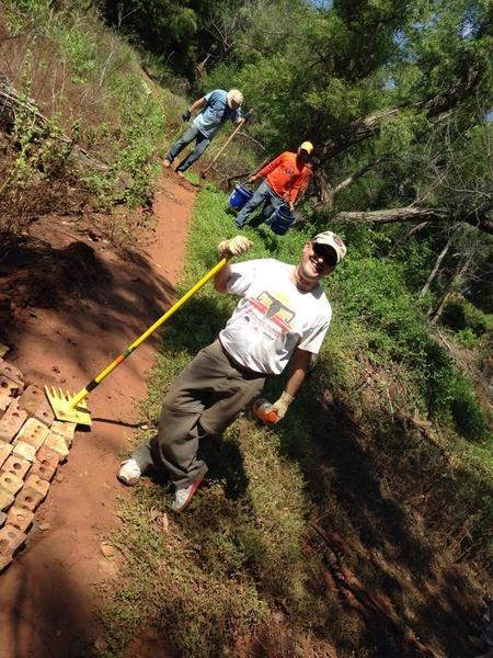 Awesome trail volunteers!