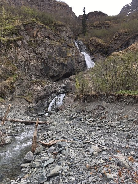 Telchina Falls, a good turnaround, or continue up the East Fork.