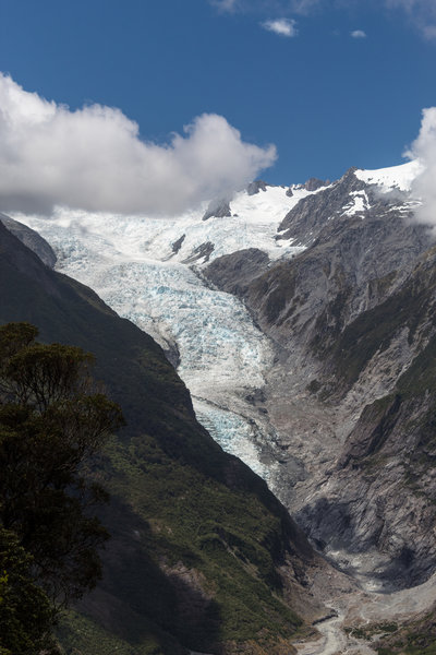 Franz Josef Glacier from Rata Lookout