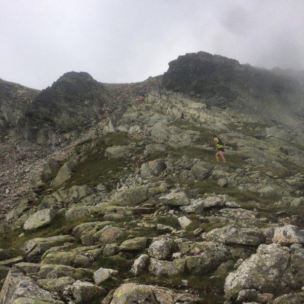 Climbing towards Golyam Kupen