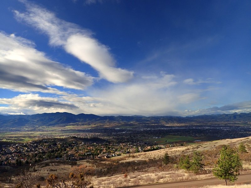 View of Medford from the Greenhorn Trail