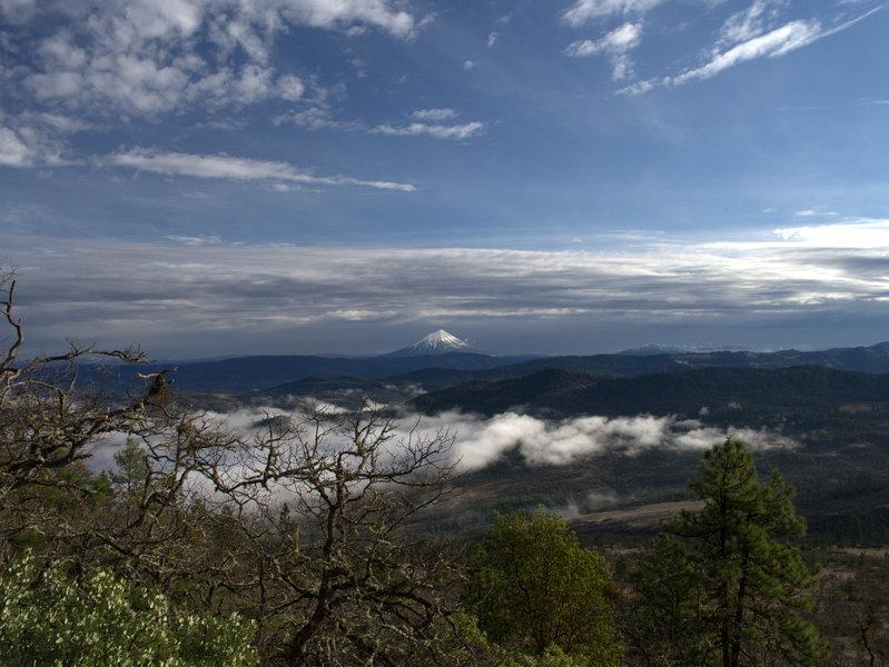 Mount McLoughlin from the Manzanita Trail
