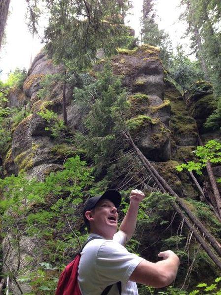 Cliffs along trail