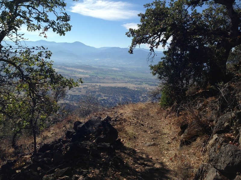 Looking out towards Wagner Butte and Mt Ashland from the Manzanita Trail on Roxy Ann.