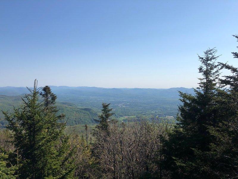 Scenic overlook on Blue Ridge Mountain.