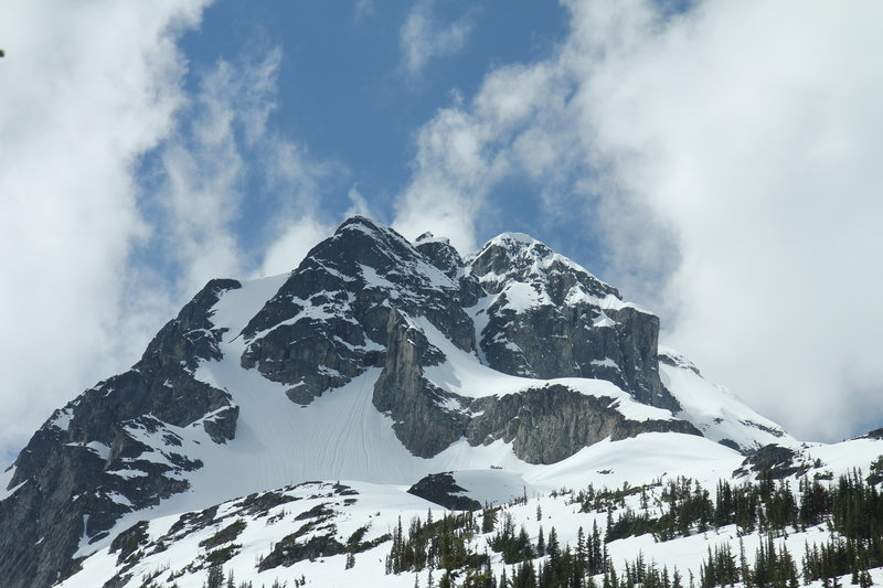 Mount Joffre Summit Block, from Cerise Creek Winter Route