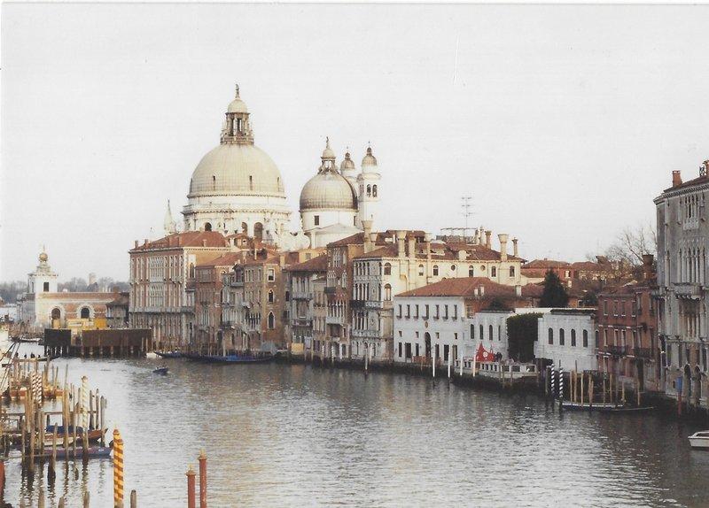View of the Gran Canale and Santa Maria della Salute