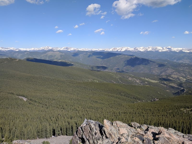 View northwest from the peak