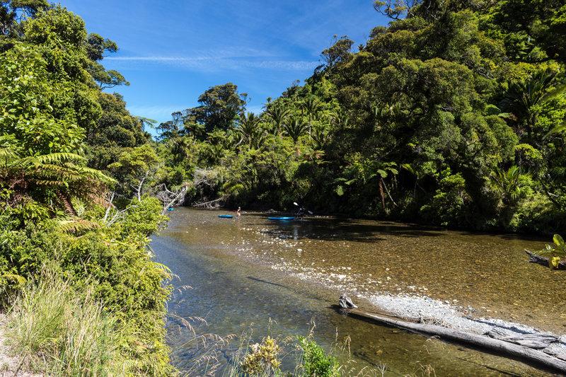 Canoeing on Pororari River