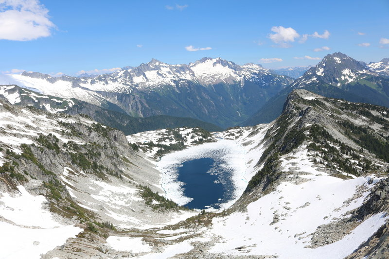Hidden Lake in mid-July