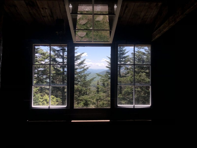 View from inside the Pico Shelter.