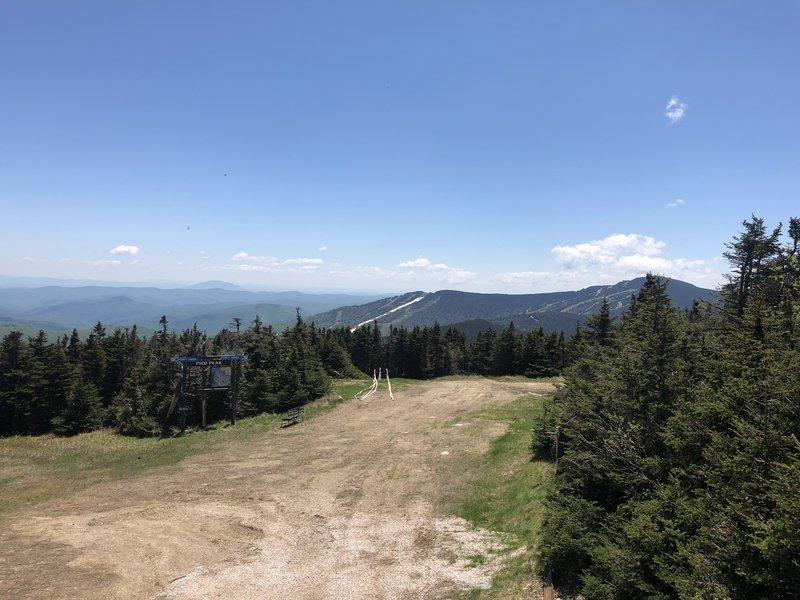 View of Killington from the peak of Pico.