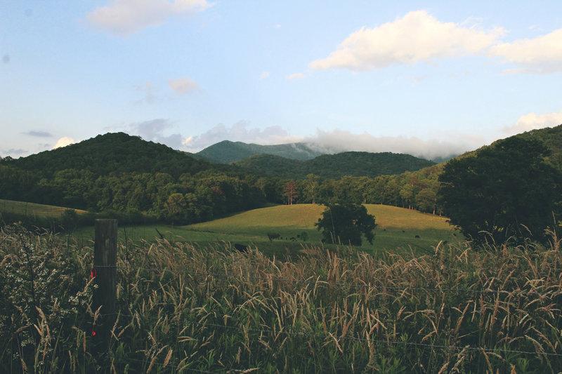 North Georgia rolling green hills