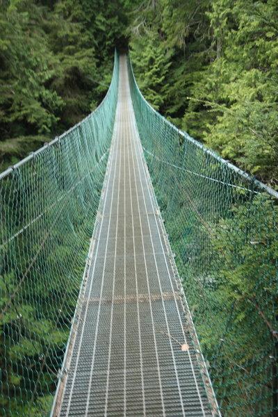 Suspension bridge on JDF Marine Trail