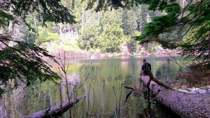 Filtering water from Wagonwheel Lake.